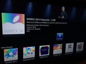 WWDC 2014 Live Stream Added To Apple TV