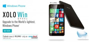 Lava Launches A Windows Phone 8.1 Handset Xolo WIN Q900s