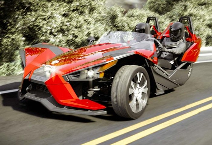 all new polaris slingshot 3 wheel car launches for 20 000. Black Bedroom Furniture Sets. Home Design Ideas