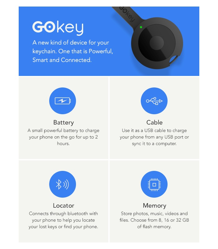 GOKey Mobile Charger Nears $1 Million In Funding On Indiegogo (video)