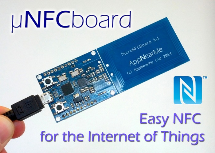 Micronfcboard nfc sensor designed for the internet of