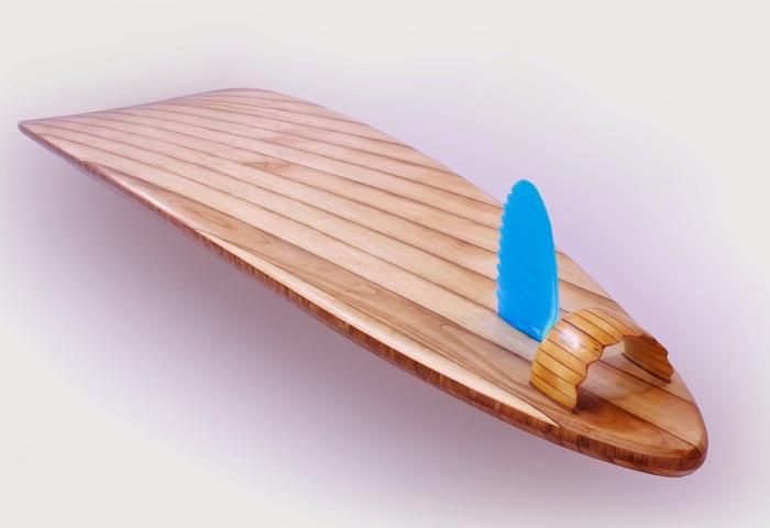 Rampant Wooden Surfboard