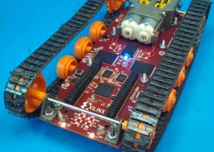 Logitraxx Tracked Robot Kit Lets You Learn About FPGAs (video)