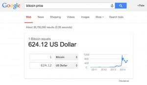 Google Search Adds Bitcoin Calculator
