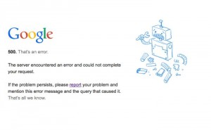 Google's Homepage Goes Down Briefly