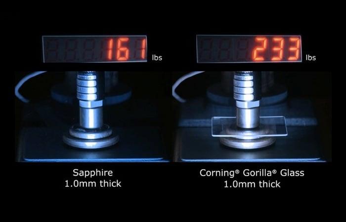 Corning Gorilla vs Sapphire Glass Pressure Tested (video)