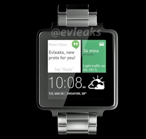 The Purported HTC Android Wear Smartwatch Render Leaked