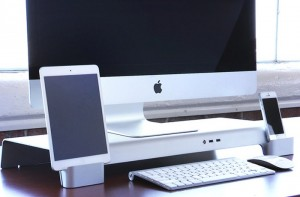 UNITI iMac Organizer And Display Stand With Integrated Device Chargers (video)