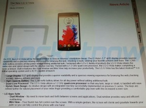 LG G Vista Specifications Leaked, Will Come With A 5.7-inch Display
