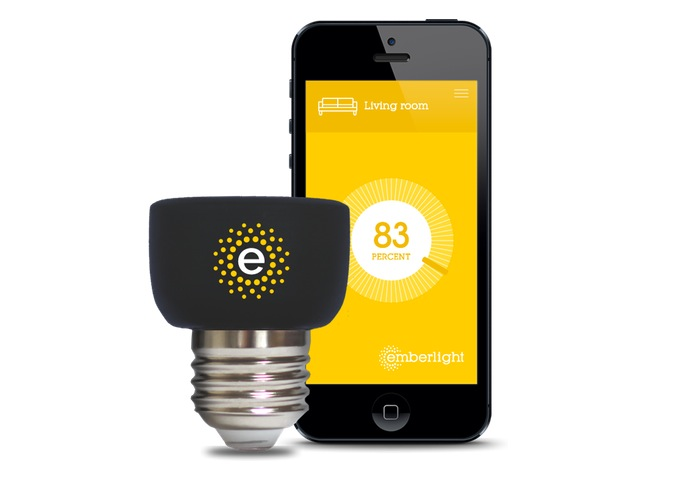 Emberlight Smartphone Controlled Light Bulb Adapter Video