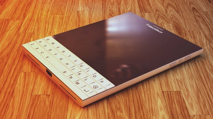 White BlackBerry Passport concept is beautiful