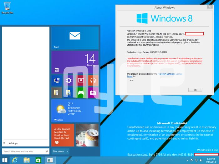 windows 9 screenshots