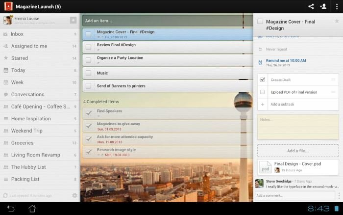 Wunderlist For Android Updated With Android Wear Support