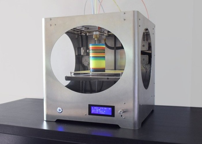 Innovative 3D4C 4 Colour (CMYK) Blending 3D Printer (video)