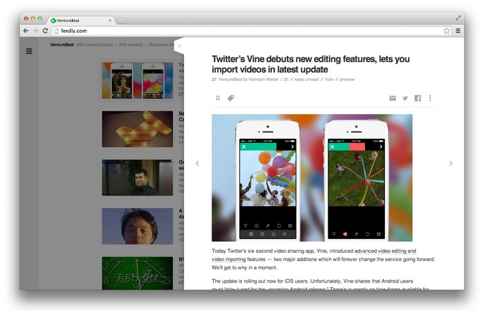 Feedly Slider
