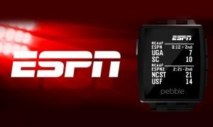 Pebble Smartwatch Receives New ESPN Scores App
