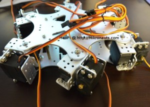 HexPi Raspberry Pi Powered Hexapod Robot (video)