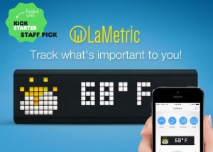 LaMetric Customisable Smart Ticker Passes $365,000 In Funding (video)