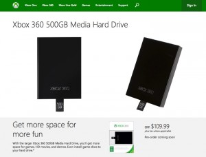 New Xbox 360 500GB Hard Drive Upgrade Option Unveiled For $110