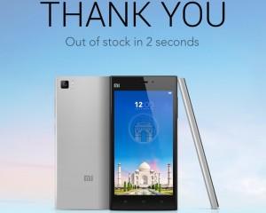 15,000 Xiaomi Mi3 Smartphones Sold In Just 2 Seconds In India