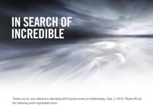 Asus Schedules IFA 2014 Press Event On September 3rd