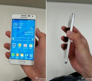 Samsung Galaxy Alpha Poses For The Camera In White