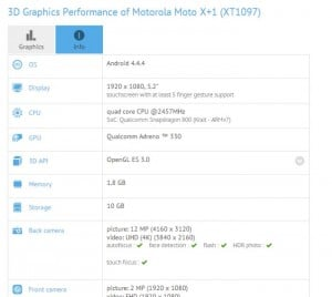 Moto X+1 Spotted In Benchmarks Again, Reveals Similar Specifications