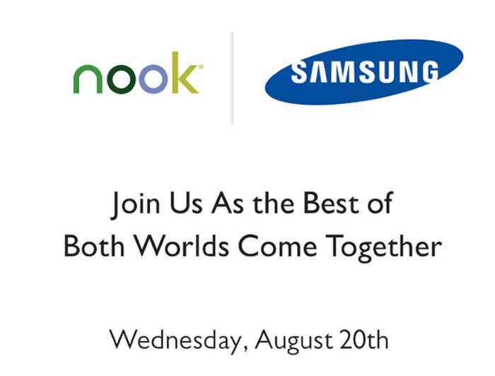 Samsung Nook Event