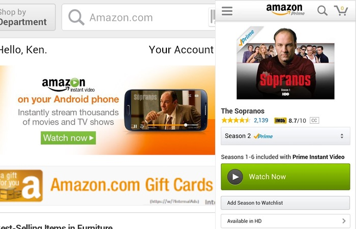 Amazon Prime Instant Video Android