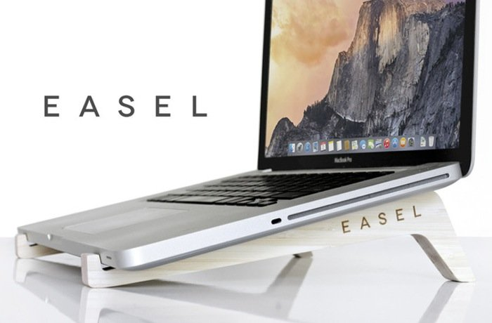 EASEL Wooden Minamalist Laptop Stand (video)