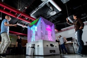 Microsoft Cube Created Using Kinect Gesture Controllers (video)
