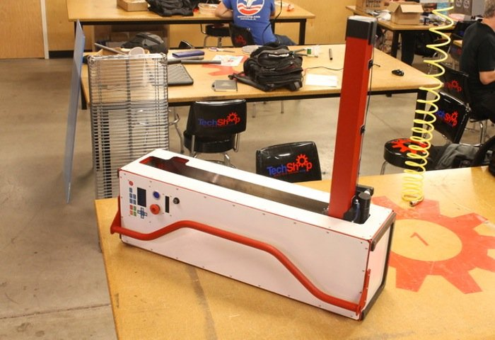 The Origami Portable Laser Cutter With Fold Out Arm