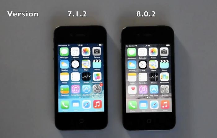 ios 8 on iphone 4s iphone 4s ios 7 vs ios 8 8781
