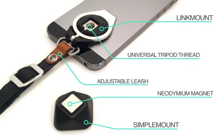 Linkmount Smartphone Leash, Stand And Tripod Mount (video)