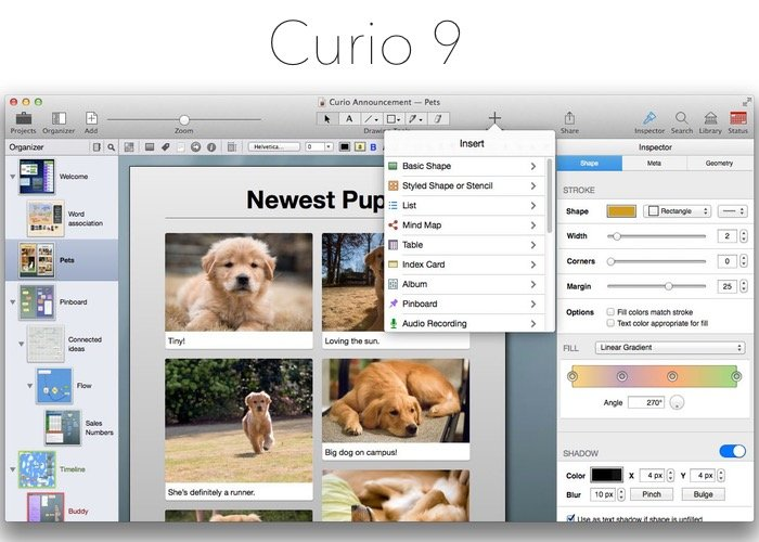 Curio 9 Digital Notebook, Whiteboard And Sketchbook App Launches