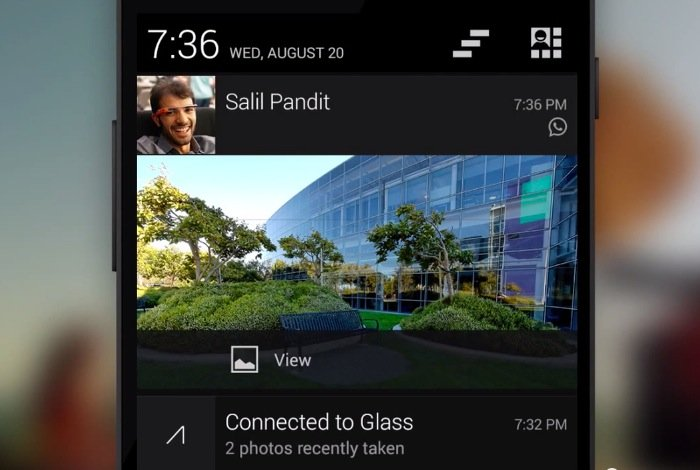 Google Glass Android Notifications