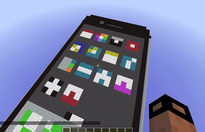 Working Iphone Created Inside Minecraft Video