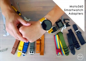 SteelConnect M Moto 360 Smartwatch Strap Adapters Let You Use Any Strap (video)