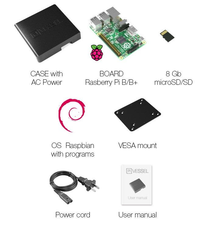 Pi Vessel Mini PC Raspberry Pi