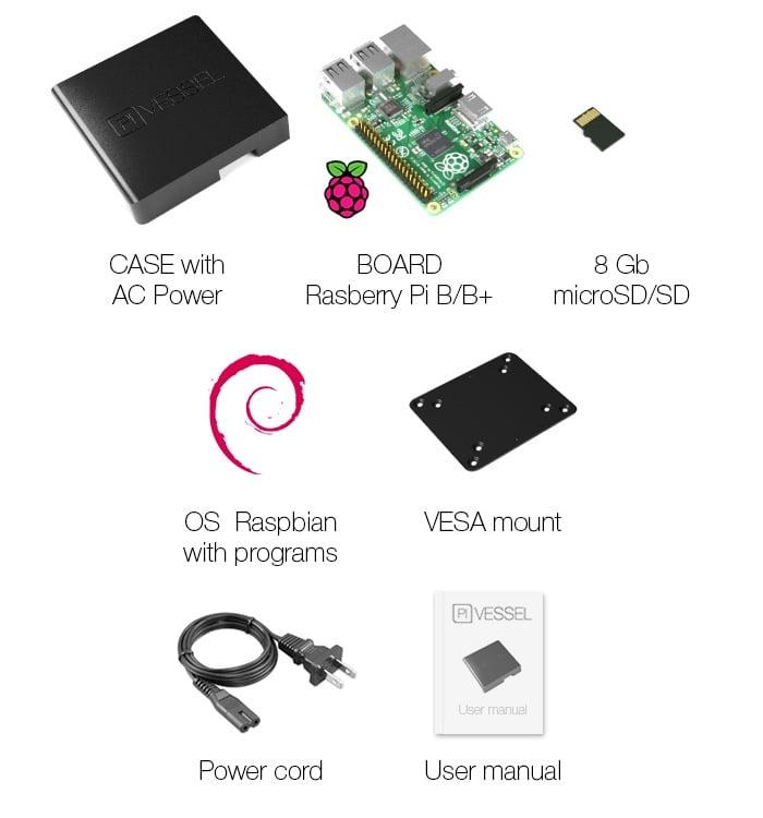 Pi Vessel Mini PC Raspberry Pi