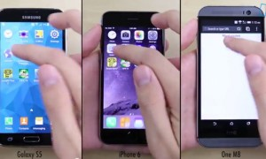 Speed Test iPhone 6 vs Galaxy S5 vs HTC One (M8) (video)