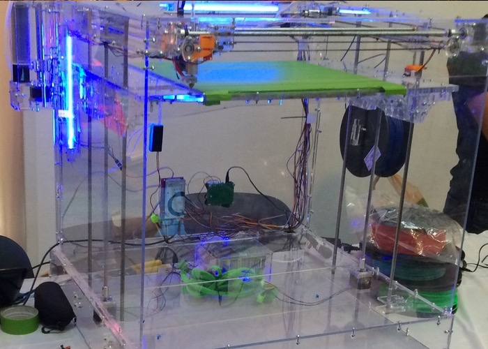 Stingray 3D Printer And Laser Cutter Offers 400mm Cubic Build Area (video)