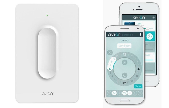 Smartphone Light Switch avi-on wireless light switch offers a 100ft range and 3yr battery
