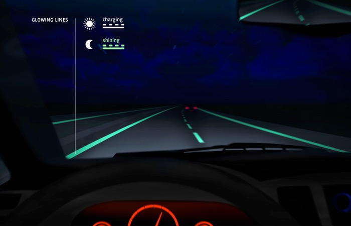 highway glow-in-the-dark markings