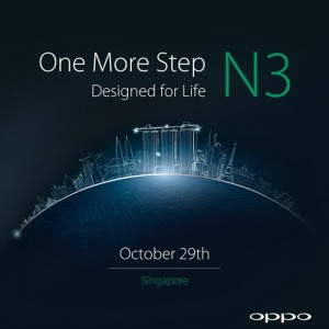 Oppo N3 To Launch on October 29th