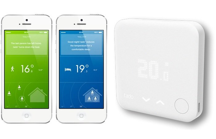 tado smart thermostat version 2 includes physical controls. Black Bedroom Furniture Sets. Home Design Ideas