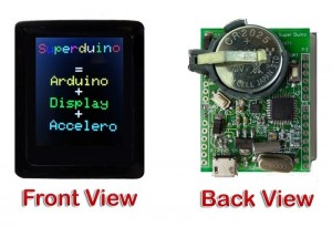SuperDuino Arduino Color Display And Accelerometer (video)
