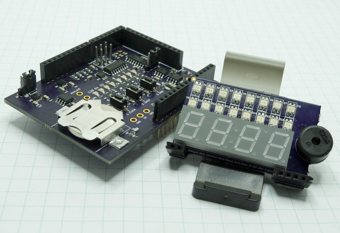 Arduino shield and web based i c spi education system