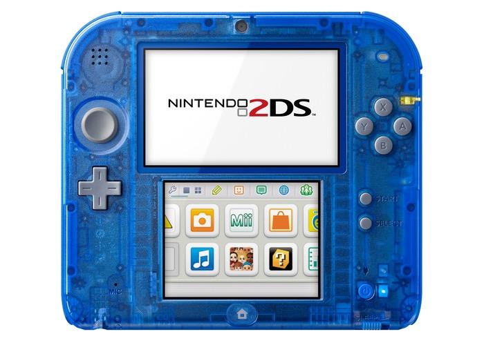 Crystal Blue Nintendo 2DS System