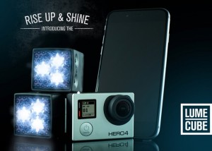 Lume Cube Video Light For GoPro Action Cameras, iOS And Android (video)